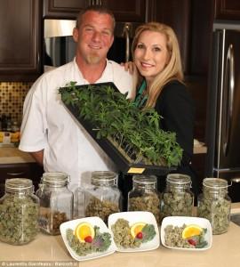 Cheryl Shuman e o chef David Schanhals