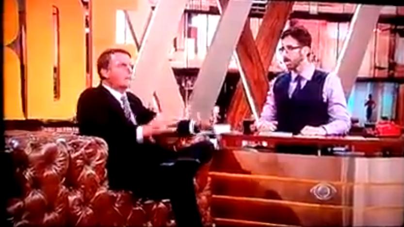 Rafinha Bastos entrevista Jair Bolsonaro e assume que fuma maconha